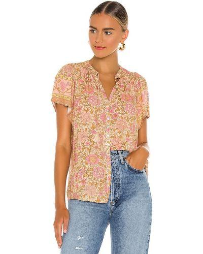 Różowa bluzka z wiskozy do pracy Spell & The Gypsy Collective