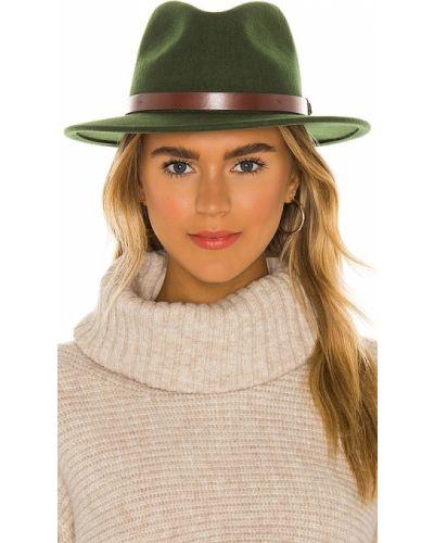Zielony kapelusz skórzany Brixton