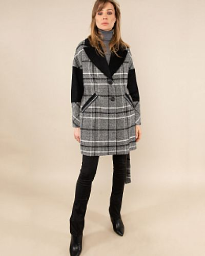 Шерстяное пальто - белое Electrastyle