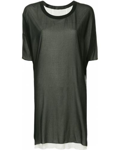 Платье мини футболка с вырезом Costume National