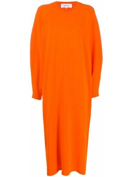 Sukienka długa z długimi rękawami - pomarańczowa Enfold