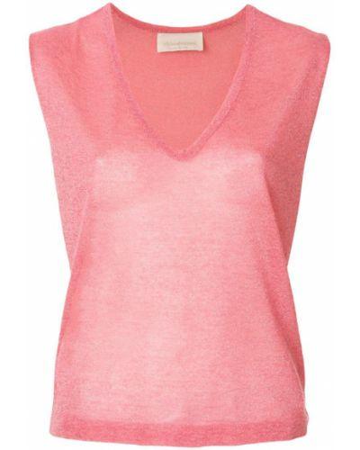 Розовый топ Chiara Bertani