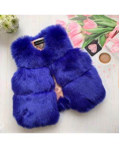 Синяя теплая жилетка Rozetka