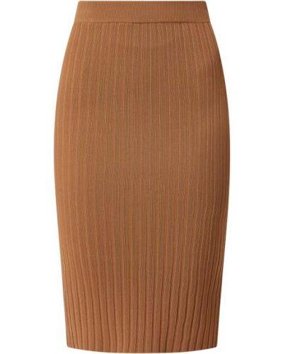 Brązowa spódnica prążkowana Guess