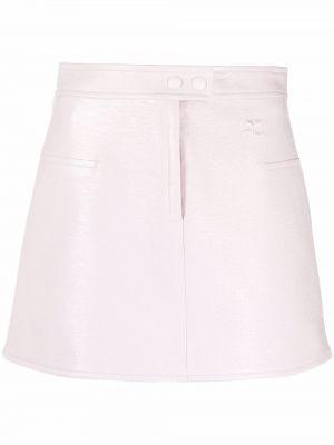 Różowa spódnica z haftem Courreges