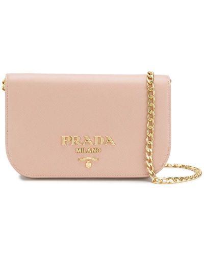 Бежевая сумка на цепочке Prada