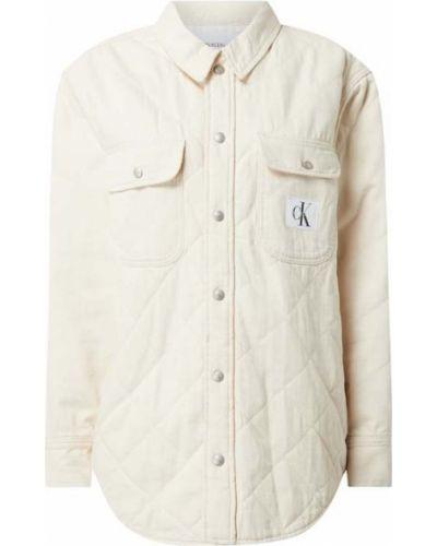 Biała kurtka jeansowa bawełniana Calvin Klein Jeans
