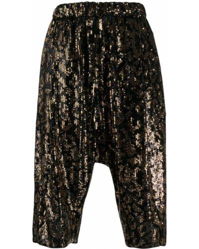 Черные шорты с поясом с пайетками N°21