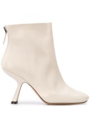 Buty na pięcie z prawdziwej skóry na pięcie plac kwadratowy Nicholas Kirkwood