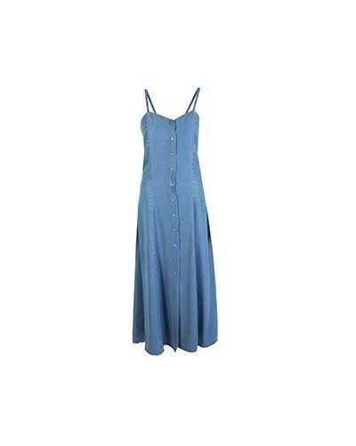 Летний сарафан джинсовый синий 2women