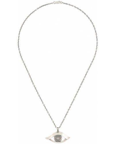 Czarny naszyjnik łańcuch srebrny Yohji Yamamoto