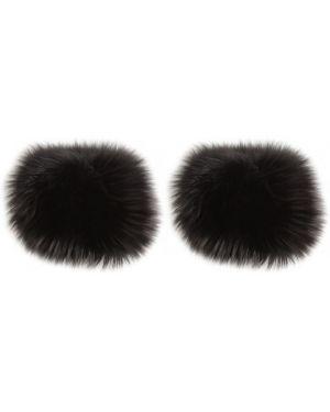 Czarne rękawiczki Simonetta Ravizza