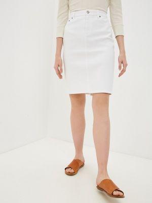 Белая джинсовая юбка Lauren Ralph Lauren