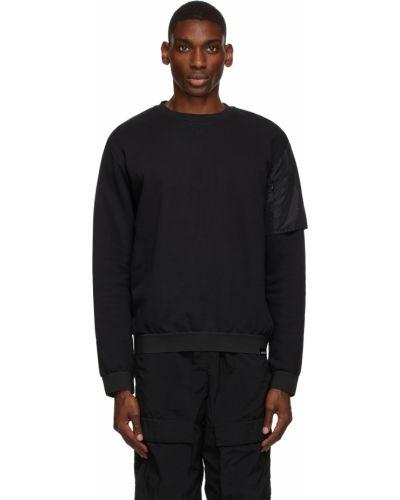 Czarna bluza dresowa z długimi rękawami bawełniana Nemen