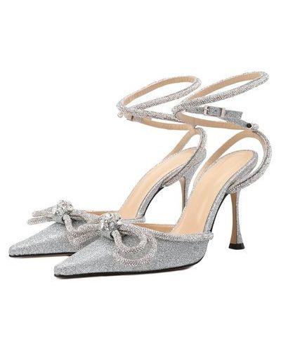 Серебряные текстильные туфли Mach & Mach