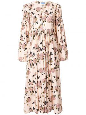 Хлопковое платье миди - розовое Macgraw