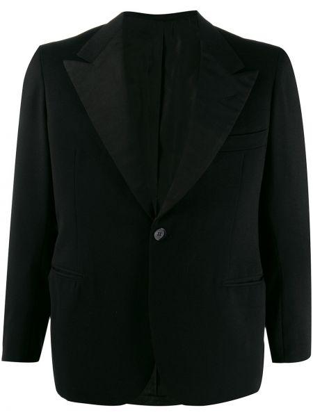 Черный удлиненный пиджак на пуговицах винтажный A.n.g.e.l.o. Vintage Cult