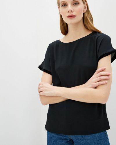 Черная с рукавами блузка Marks & Spencer