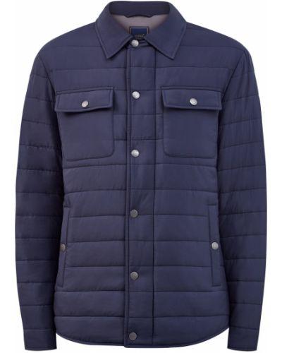 Синяя куртка с воротником с сеткой Cudgi