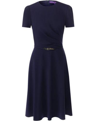 Платье с поясом платье-поло с драпировкой Ralph Lauren