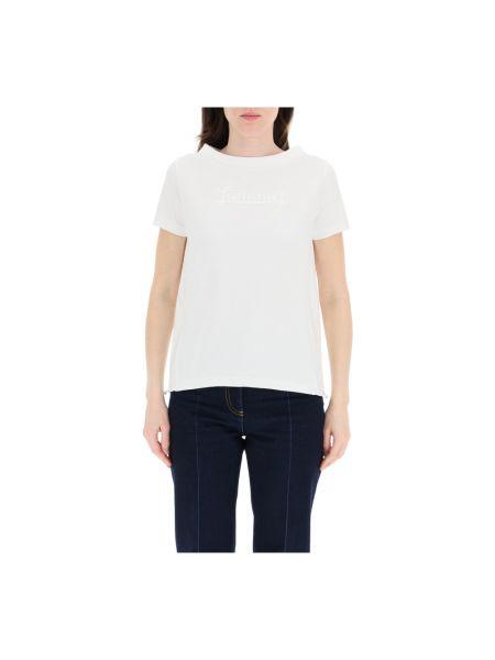 Biała t-shirt Herno