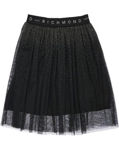 Czarny spódnica z tiulu elastyczny John Richmond