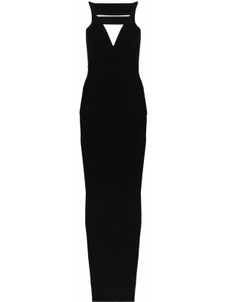 Облегающее платье макси с разрезами по бокам Rick Owens