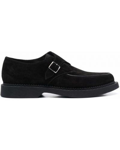 Loafers zamszowe - czarne Saint Laurent