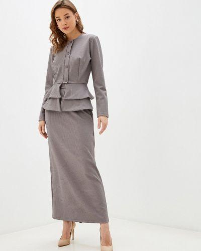 Серый костюмный юбочный костюм Sahera Rahmani