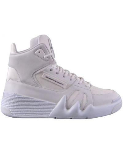 Białe wysoki sneakersy skorzane Giuseppe Zanotti
