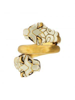 Biały złoty pierścionek Gucci