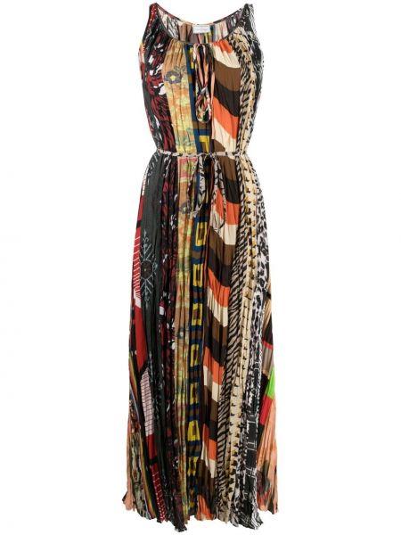 Расклешенное платье миди без рукавов с вырезом Pierre-louis Mascia