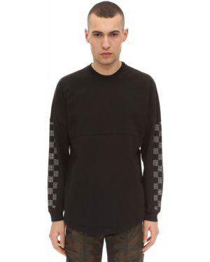 Czarny t-shirt z długimi rękawami bawełniany Norwood Chapters