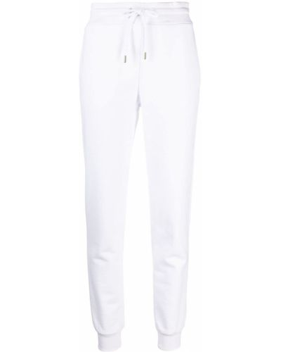 Хлопковые белые спортивные брюки эластичные Love Moschino