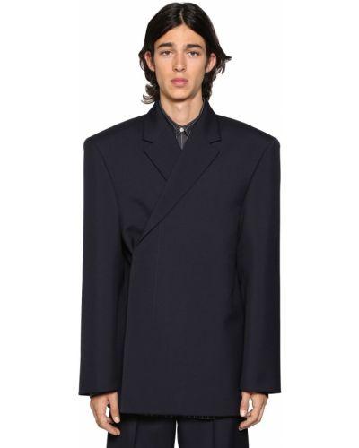 Пиджак с карманами шерстяной Balenciaga