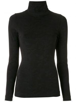 Блузка с воротником - черная À La Garçonne