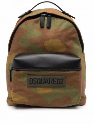 Plecak skórzany - zielony Dsquared2
