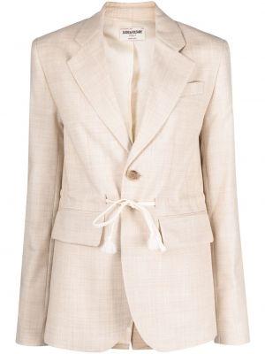 Шерстяной удлиненный пиджак с лацканами с завязками Zadig&voltaire