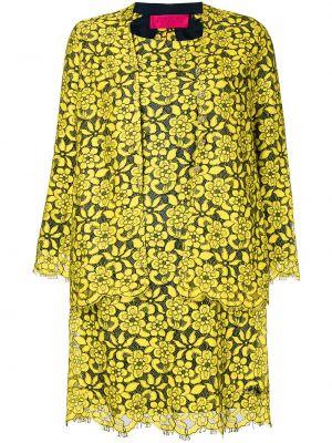 Желтый костюм без рукавов винтажный на пуговицах Christian Lacroix Pre-owned