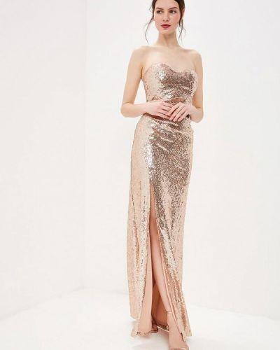 Вечернее платье золотой Goddiva