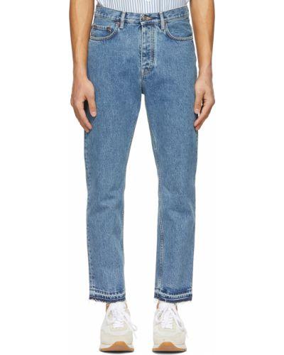 Białe jeansy z paskiem bawełniane Harmony