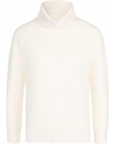 Белый свитер с воротником-стойкой Cruciani