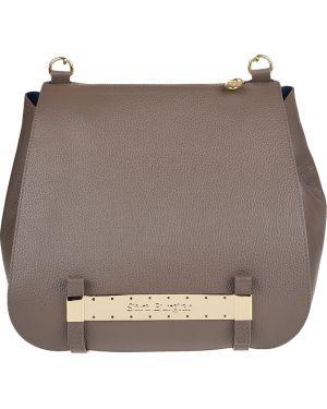 Кожаная сумка - бежевая Sara Burglar