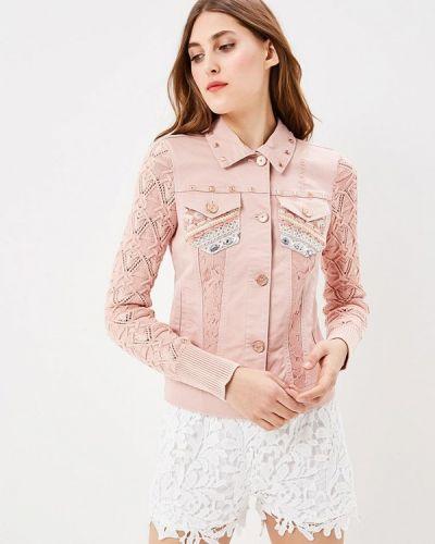 Розовая джинсовая куртка Desigual