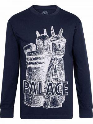 Хлопковая футболка - синяя Palace