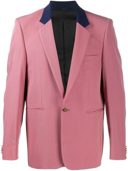 Różowy garnitur wełniany z długimi rękawami Paul Smith