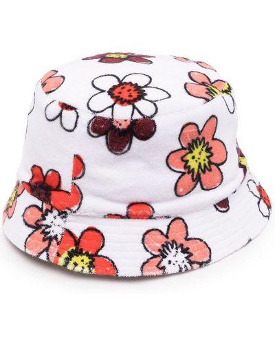 Biała czapka bawełniana Miaou