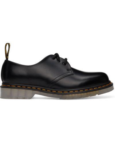 Черные оксфорды на шнуровке Dr Martens