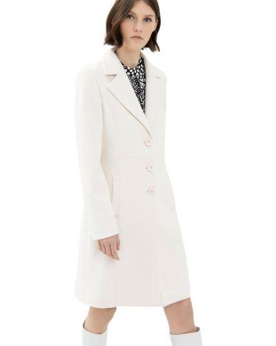 Biały płaszcz Fracomina