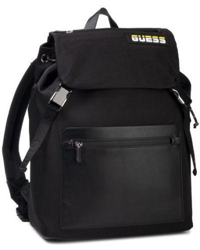 Czarny sport plecak Guess